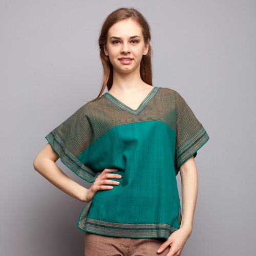 Flock Energy - Green Lurik Stripes Blouse IDR 455.000