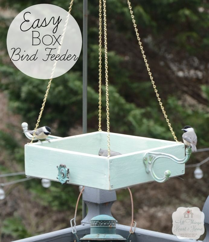 Easy DIY Platform Bird Feeder - All Things Heart and Home