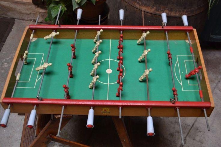 Calcio Balilla ARCOFALC Milano in legno anni 60 Calcetto Calcio Biliardo Vintage