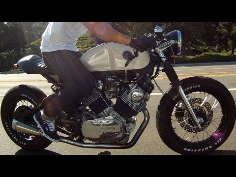 ▶ 1982 Yamaha Virago XV750 Custom Cafe Racer GoPro Hero 3+ - YouTube