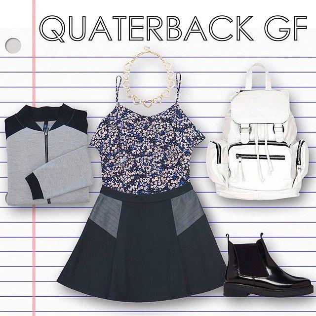 back to school: quarterback girlfriend