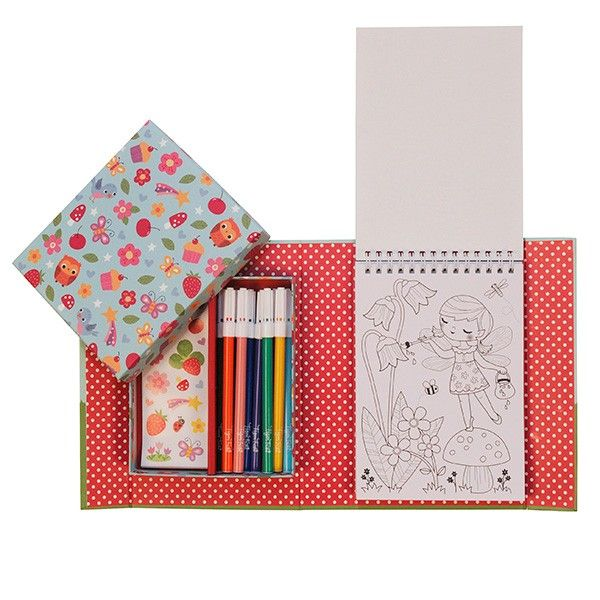 Piccolo Colouring Set - Forest Fairies by Tiger Tribe at www.kidstoystoyou.com.au