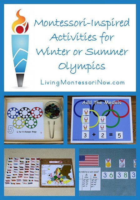 I have three Montessori-inspired posts from the 2 012 Summer Olympics that are easily adapted for any Winter or Summer Olympics.
