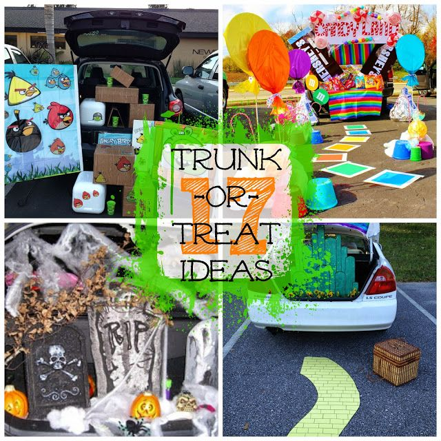 17 Creative ways to decorate your trunk for Trunk-or-Treat parties!