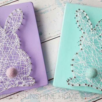 Easter Bunny String Art | Hello Sunshine Home Decor