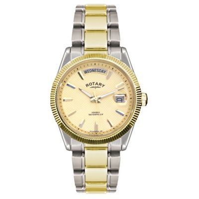 Rotary Gents two tone gold watch- | Debenhams