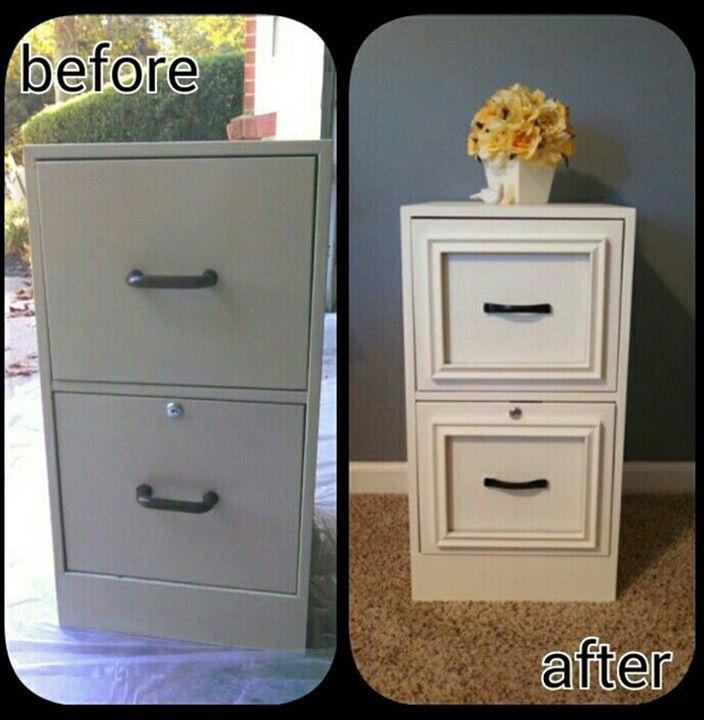 how to paint a metal file cabinet 2