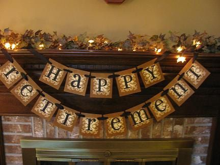 Happy Retirement Celebration Banner Garland Sign Employee Retirement Party Reception on Etsy, $26.00