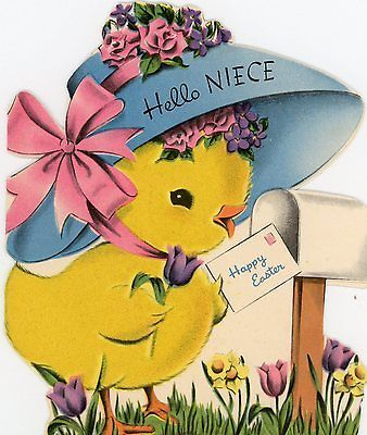 Best Chicks Birds  Roosters Vintage Easter Cards Images On