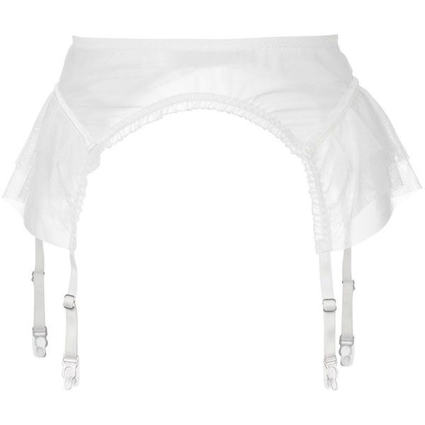 Lascivious Kitty Suspender Belt 86 Liked On Polyvore Featuring Intimates White Garter