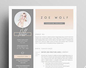 5 page modèle de CV et lettre de motivation  par TheResumeBoutique