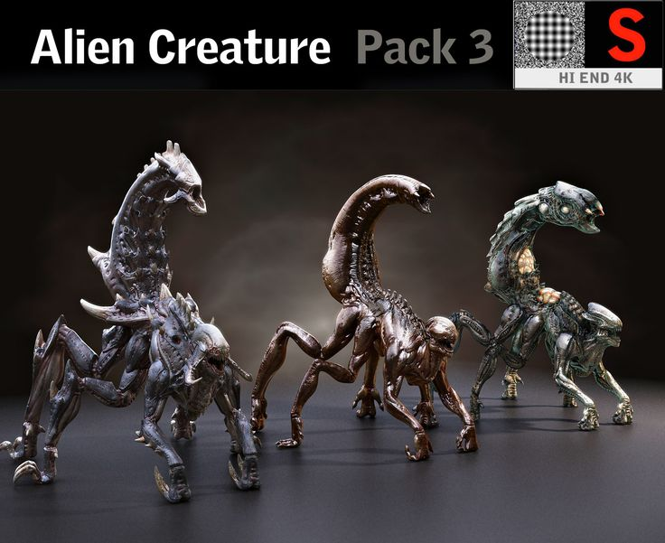 creature pack hd 3D model