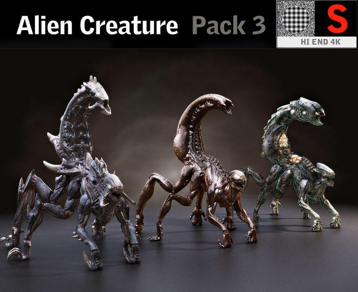 creature pack hd 3D model