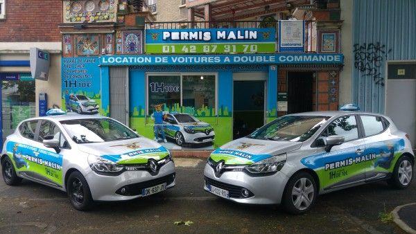 Permis Malin Montreuil - Croix de Chavaux : Location de véhicules double commande 17 Rue Paul Langevin 93100 Montreuil    01.42.87.31.70