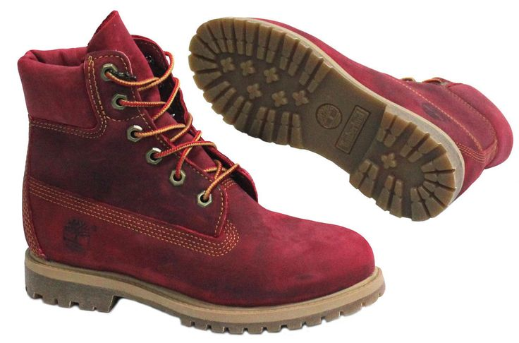 Image result for red leather hiking boots ladies