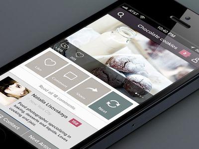 Dribbble - Photography iPhone app by Julia Khusainova