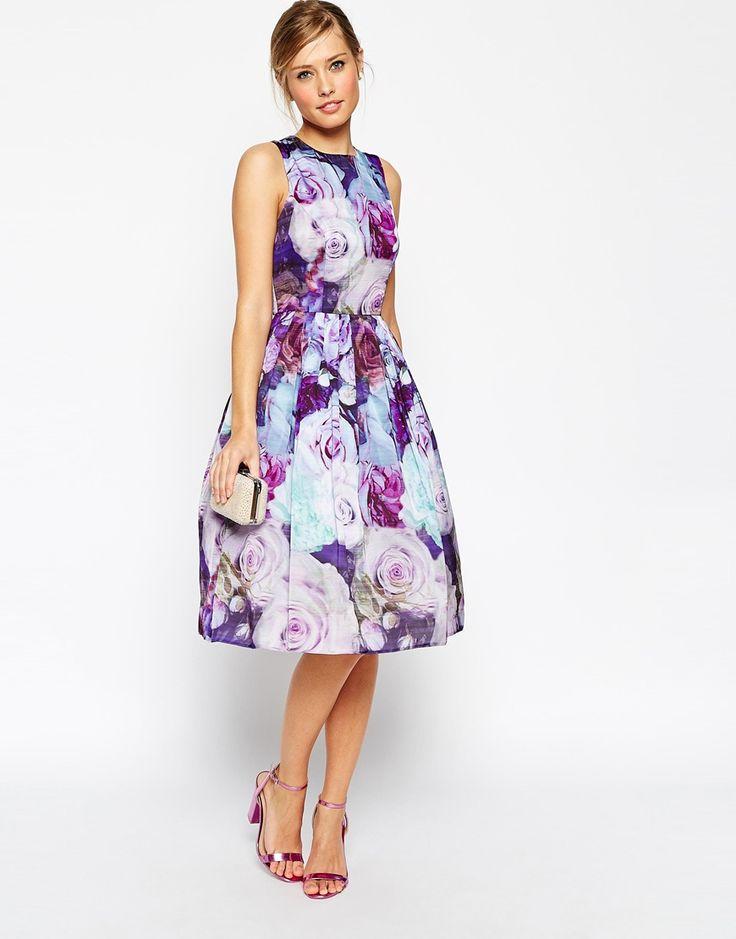 ASOS Floral Soft Prom Dress