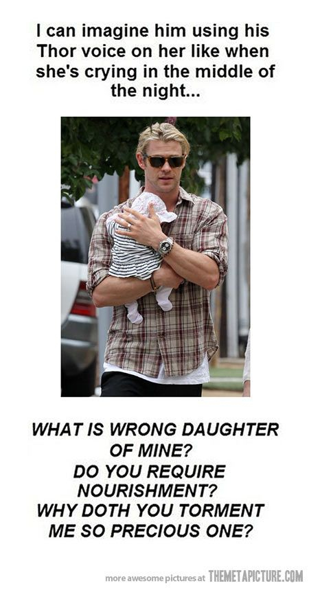So Chris Hemsworth has a baby daughter… I so have this pin already, but I love it.