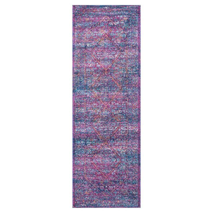 nuLOOM, Purple Solid Loomed Runner - (2'8x8')