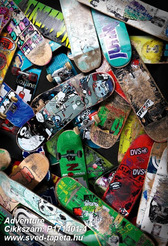 All skateboards get a place in heaven! ☞ #wall #decor #wallpaper #design #tapeta #foto #poster