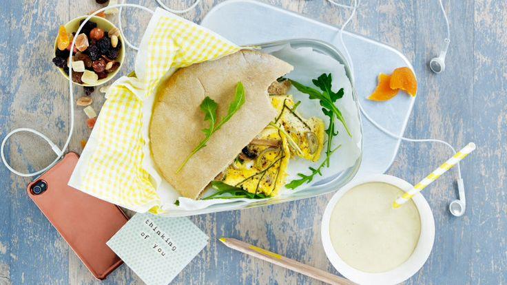 Grov pita smurt med aioli + omelett ❤️ kiwi.no