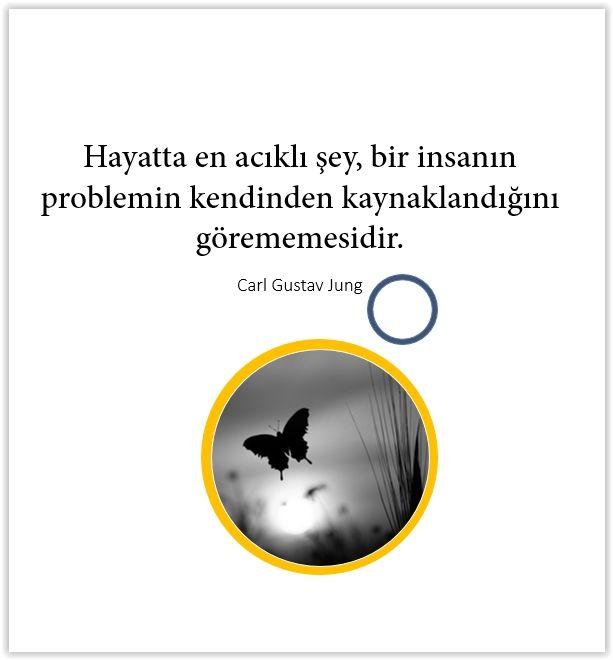 Hayatta en acıklı şey, bir insanın problemin kendinden kaynaklandığını görememesidir. Carl Gustav Jung