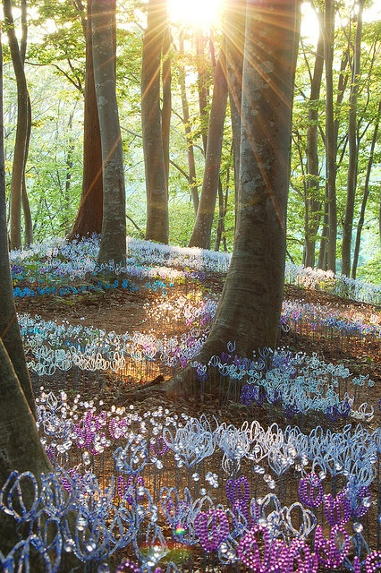 Nakauonuma, Niigata prefecture in Japan - part of the Echigo-Tsumari Art Field: Artificial flowers