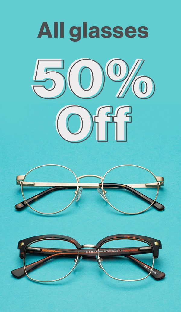 db096a71fb For a limited time only  50% off frames