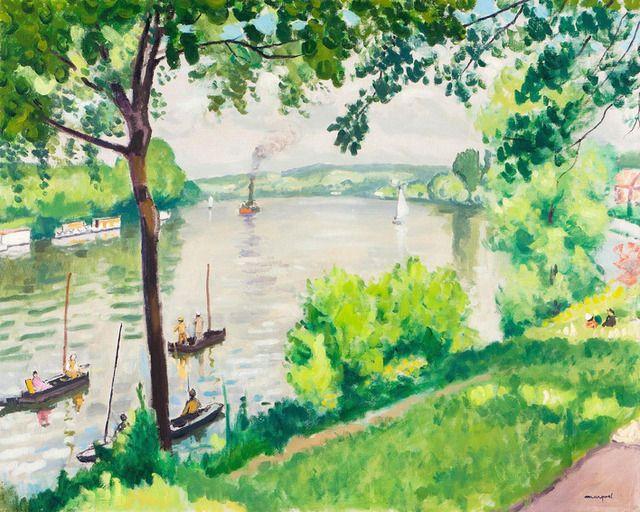 Albert Marquet | Berge à Triel (Le Remorqueur) (1931), Available for Sale | Artsy