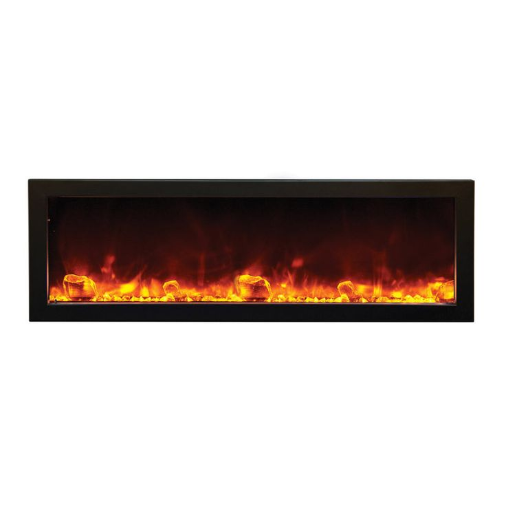 Amantii 50″ wide x 12″ deep Built-in Outdoor Electric Fireplace (BI-50-DEEP-OD)