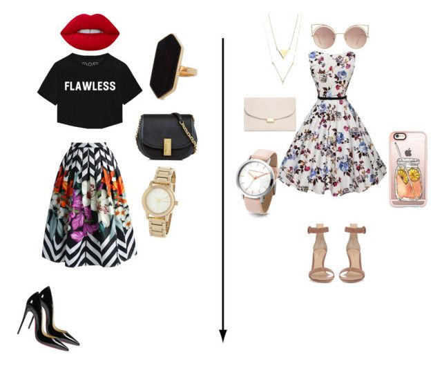 """""""Baby i dont need dollar bills to have fun"""" by aliza-ahmed on Polyvore featuring Chicwish, Marc Jacobs, Christian Louboutin, Lime Crime, DKNY, Jaeger, Gianvito Rossi, Mansur Gavriel, Casetify and MANGO"""