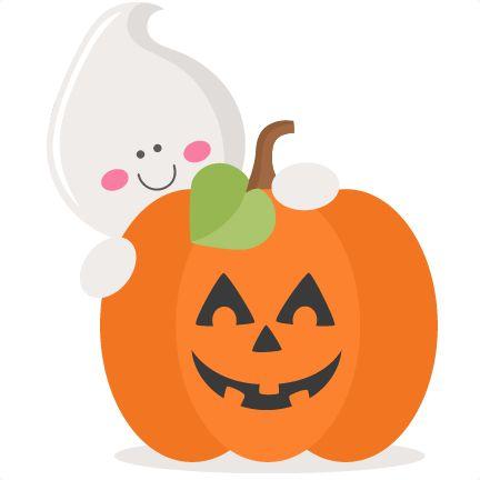 Ghost With Pumpkin SVG scrapbook cut file cute clipart files for silhouette cricut pazzles free svgs free svg cuts cute cut files