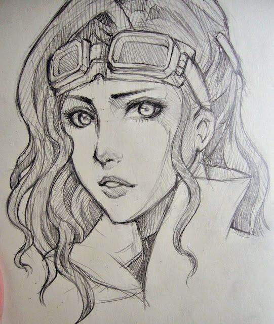 Asami by O-cha-ra.deviantart.com on @deviantART. Character Sketch / Drawing Illustration