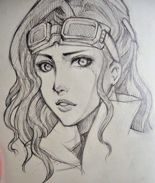 Asami by O-cha-ra.deviantart.com on @deviantART. Character Sketch / Drawing Illustration