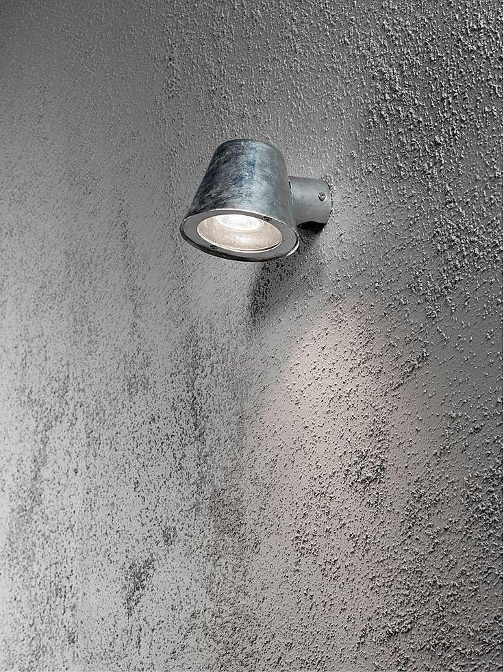 Galvad utomhusbelysning - Konstsmide Trieste vägglampa