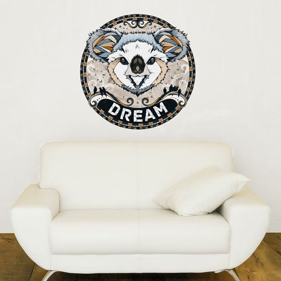 Koala wall sticker decal dream by andreas preis by mywallstickers