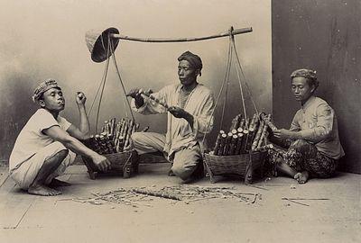 penjual minuman tebu - nederlands indic3ab 1915