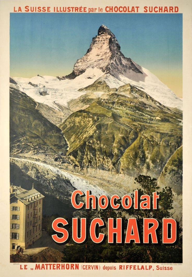 Chocolat Suchard, le Matterhorn (Cervin) depuis Riffelalp. ANONYME (1908 circa)