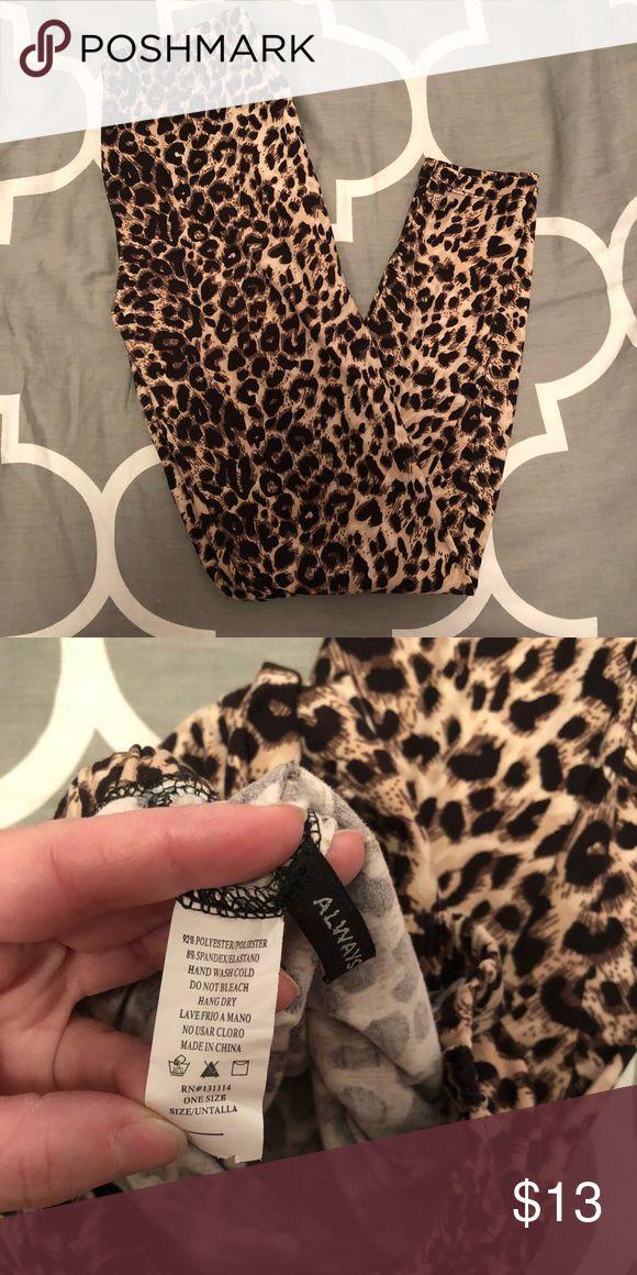 Soft Leopard Print Leggings Leopard print leggings. Super soft and cute! Always Pants Leggings