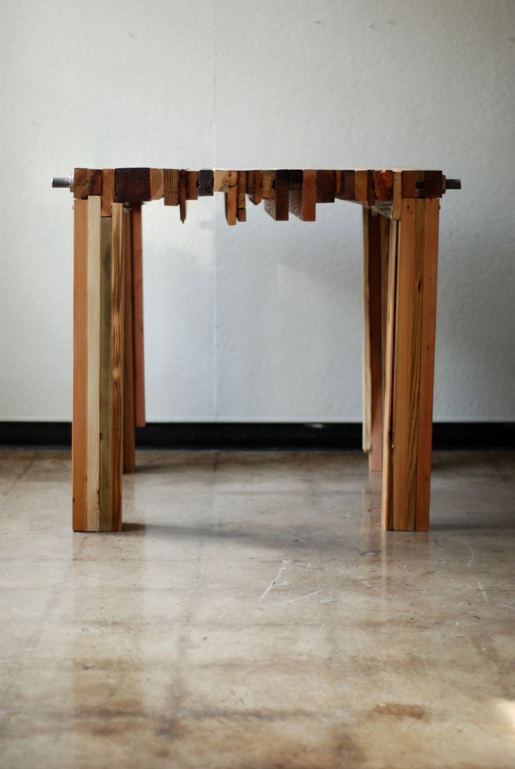 reclaimed wood table - no glue