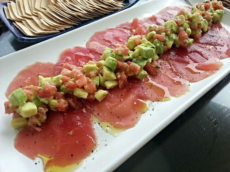 """Tuna Carpaccio my version - """"Fresh and yummy!"""" @allthecooks #recipe"""