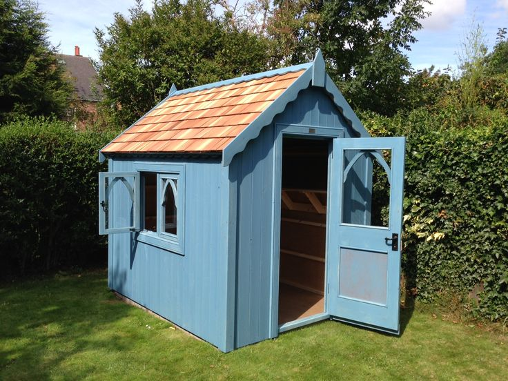 8ft X 6ft Gothic Shed In Northern Pike With A Cedar Shingle Roof · Cedar  ShinglesGarden ShedsGothic