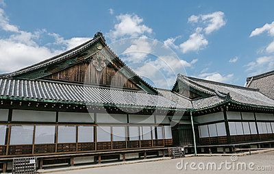 The flatland palace Nijo Castle in Kyoto. Nijo Castle also known as Second Palace, Ninomaru Palace, a flatland castle founded 1679, Kyoto. Japan.