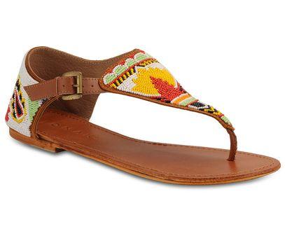 Sandales en cuir perlées Jonak prix promo Galeries Lafayette 65.00 € TTC