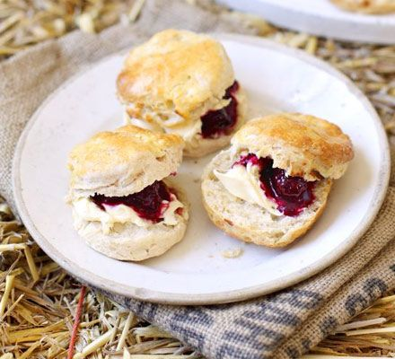 Apple scones with blackberry compote make the perfect autumnal treat, serve with a warming cuppa.