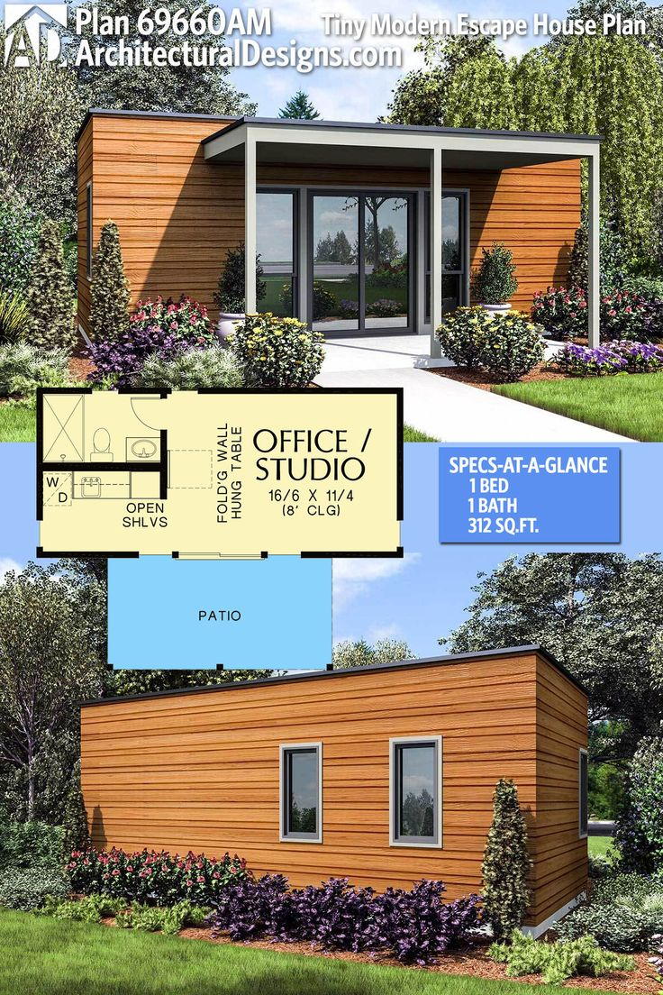 Architectural Designs Tiny House Plan 69660AM gives