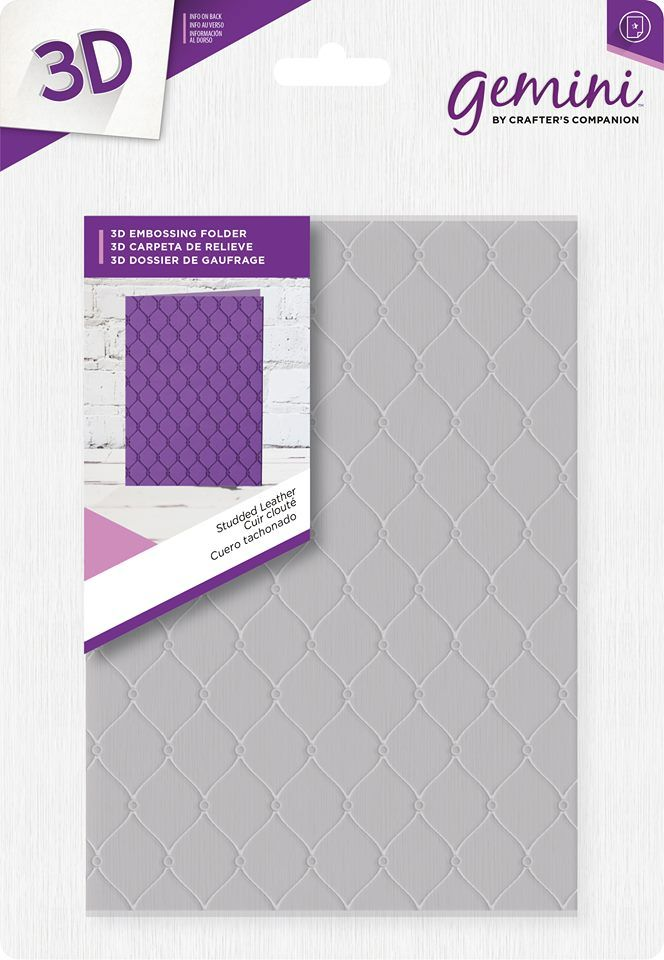 Crafters Companion 5 x 7 3D Card Embossing Folder Geometric Triangles