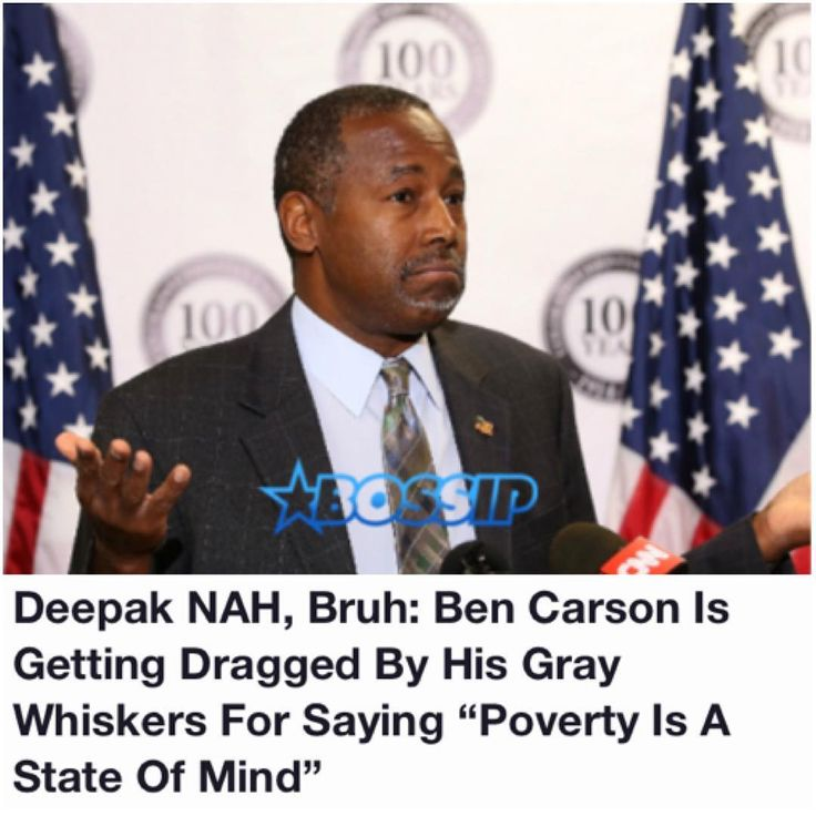"Twitter is TRIGGERED over what Ben Carson said on a radio show yesterday.  It all started in an XMradio interview released Wednesday, Housing and Urban Development Secretary Ben Carson said that a ""certain mindset"" contributes to people living in poverty, pointing to habits and a ""state of mind"" that children take from their parents at a young age. ""I think poverty to a large extent is also a state of mind. You take somebody that has the right mindset, you can take everything from them and…"