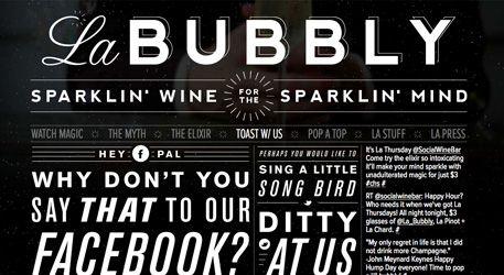 #houseoftype | La Bubbly Web Design