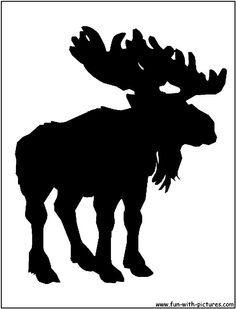 moose stencil   Moose Silhouette
